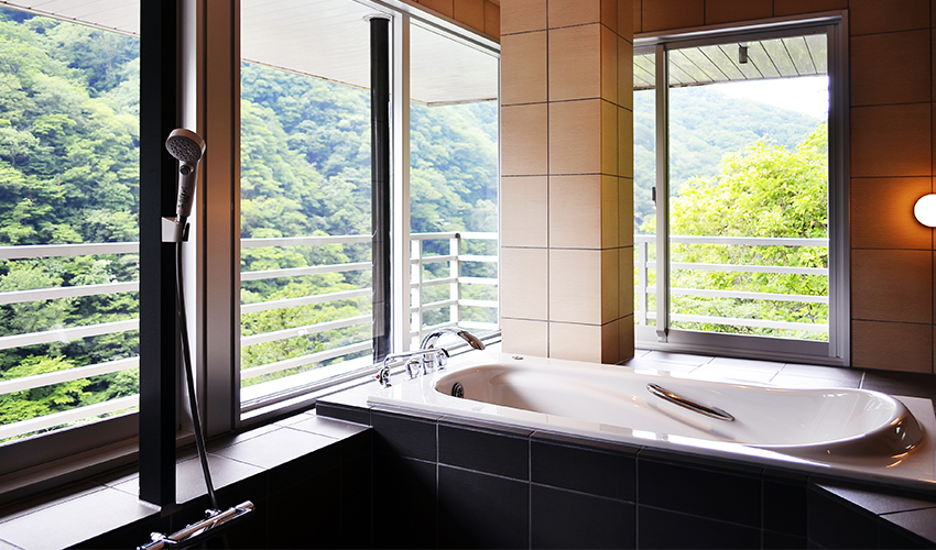 温泉内風呂付モダン特別室